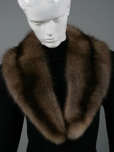 Sable Sable Collar stola nera collo 078 pelliccia pelliccia di Barguzin Vera Russian uZiPkXO