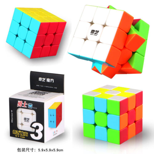 QiYi W 3x3x3 Speed Magic Cube Puzzle Twsity Bright Stickerless Kid Boy Toys Gift