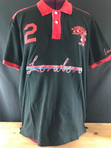 NWT American Ranger LONDON ENGLAND Soccer RUGBY Polo Shirt RED//BLACK World Cup
