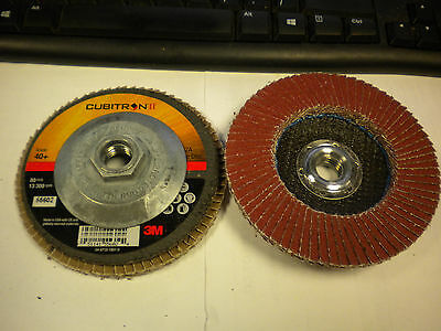 3M Cubitron II Flap Disc 967A Pack of 10 Y-Weight T27 Giant 4-1//2 x 5//8-11 80+ Manufacturer Grade