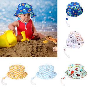 b50f15ce6 Details about Infant Baby Boy Girl Sun Hat Toddler Summer Outdoor Beach  Soft Cotton Bucket Cap