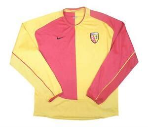 RC Lens 2003-04 Authentic Home Camicia L/S (eccellente) L soccer jersey