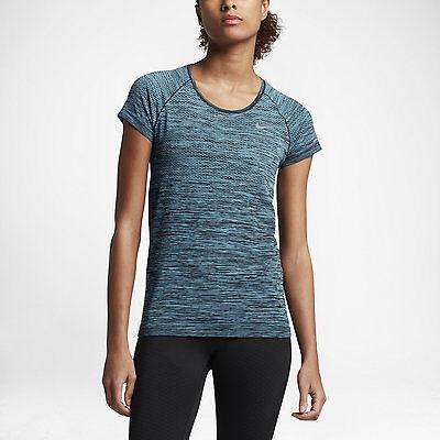 Women/'s Nike DF Knit Tank Sz M-L Royal Blue//Red//Silver 718567-458 FREE SHIPPING