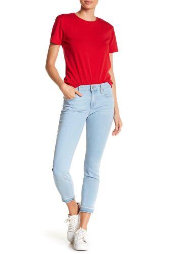 Stretch Light Skinny Midrise Jeans Crop Blue Sz Nwt Raw Hem Joe's 27 Sp6TxH8