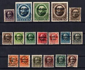 P135629-BAYERN-OLD-GERMANY-YEARS-1919-1920-USED-SEMI-MODERN-LOT-CV-205