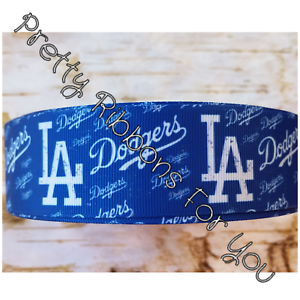 """LA Dodgers 1.5/"""" wide grosgrain ribbon the listing is for 5 yards"""