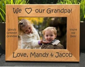 Personalized Engraved I Love My Grandpa Picture Frame Ebay