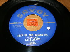 FAYE ADAMS - STEP UP AND RESCUE ME - CRY YOU CRAZY HEART - LISTEN - RNB POPCORN