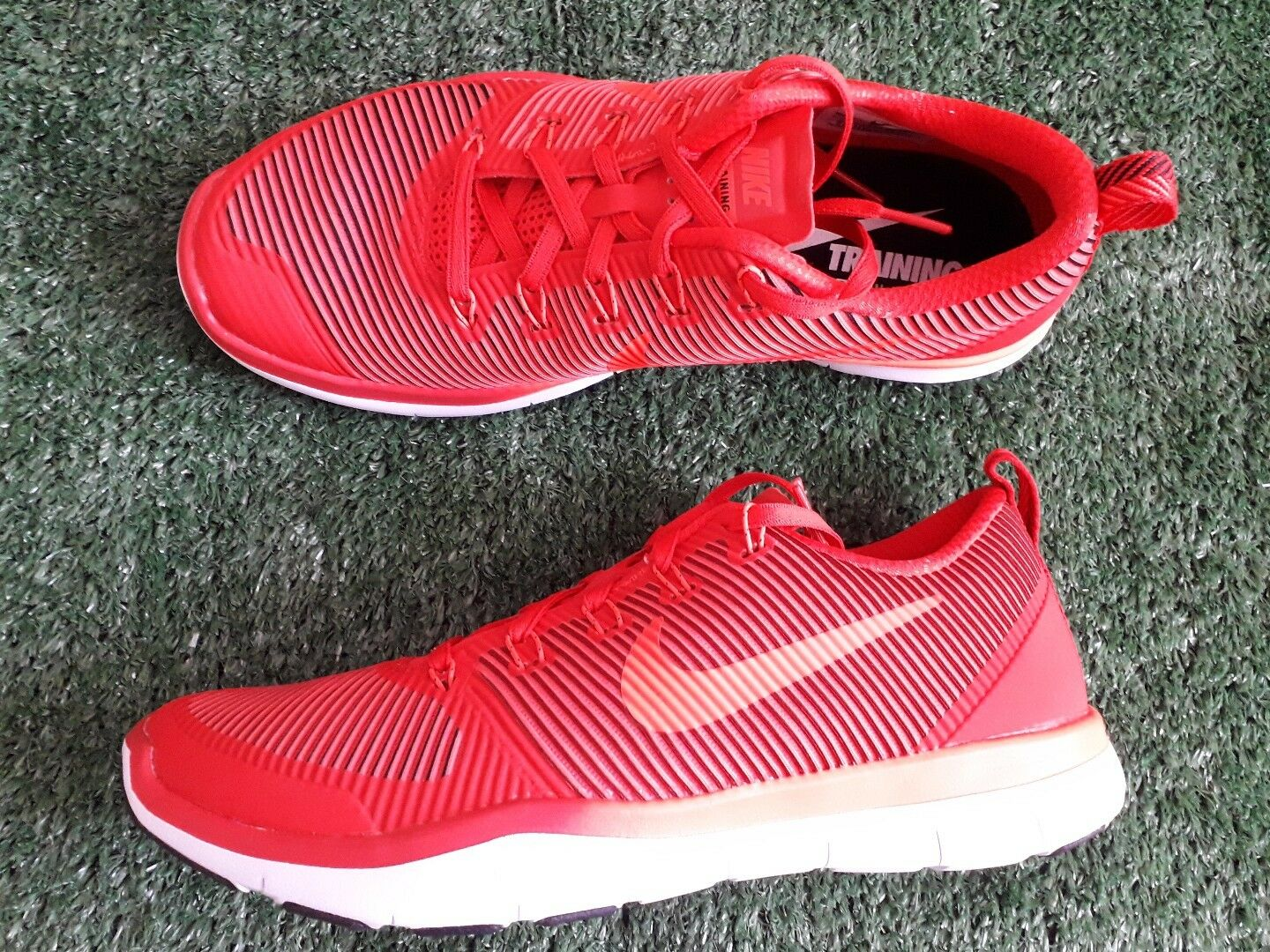 Nike Free Taille train polyvalence Baskets Homme Chaussures De Course Taille Free Sport Rouge NEUF f2630b