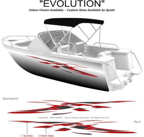 BOAT GRAPHICS  DECAL STICKER KIT EVOLUTION -3200  MARINE CAST VINYL