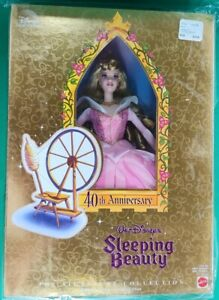 Walt-Disney-039-s-40th-Anniversary-Sleeping-Beauty-1998-Barbie-NIB-Mattel