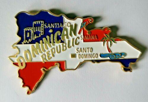 Dominican Republic Santo Domingo Map Metal Souvenir Tourist Travel Magnet