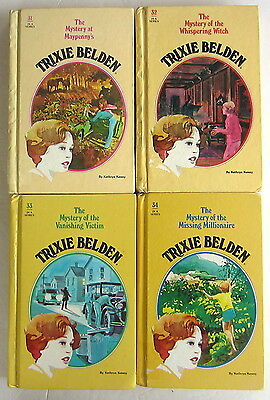 Trixie Belden Lot 4 Vintage Hardcover Mystery Books #31-34 Whispering Witch