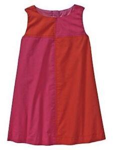 Nwt baby gap girl s colorblock poplin dress 100 cotton ebay