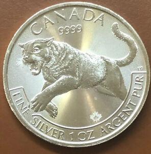 2016 Canada Cougar Predator Series 1 Oz 9999 Silver Coin BU!!! LOT OF 5
