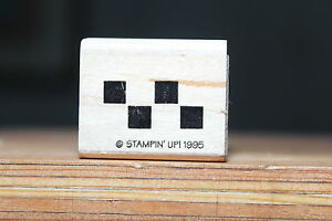 Checker-Board-Border-Wood-amp-Foam-Backed-Rubber-Stamp
