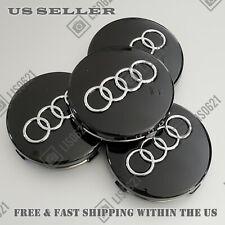 4 Black Wheel Rim Center Hub Caps 60mm Fits Audi A3 A4 A6 A8 S4 Tt Q7 S4 S6 S8