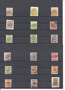 Memel-Litauen-1923-Einzelwerte-aus-MiNrn-135-173-o-geprueft-Huylmans-BPP