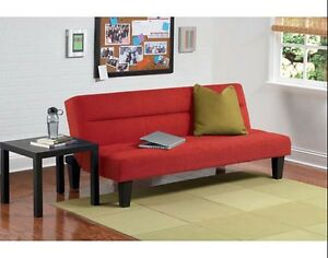 Image Is Loading Futon Sofa Bed With Cover Red Convertible Low