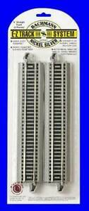 """HO Scale Bac44481 X50 for sale online Bachmann 9/"""" Straight E-z Train Track 50 Pieces"""