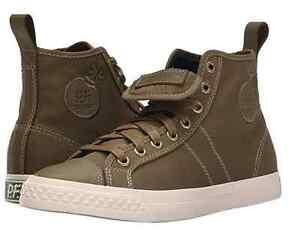 M PF FLYERS PM15SC3A CENTER HI Mn/'s Black Fabric Hi-Top Skate Shoes