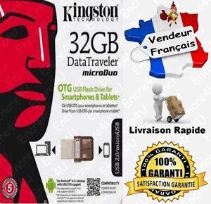 Cle-USB-32-Gb-Go-Datatraveler-Micro-DTDUO-Kingston-Dispo-aussi-en-8-16-64-Giga