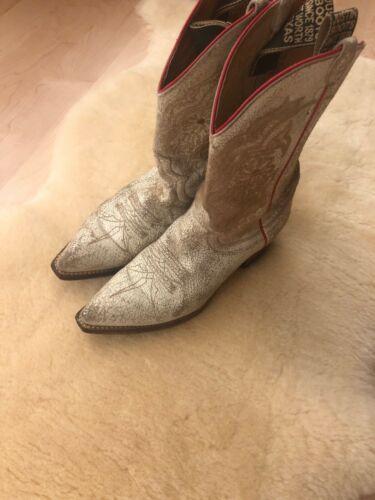 Justin Women's Western Boots - Cream Textured Leat