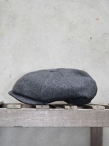 Grey Melton Wool Cap - 8 Piece Soft Woollen Cap by Christys' of London