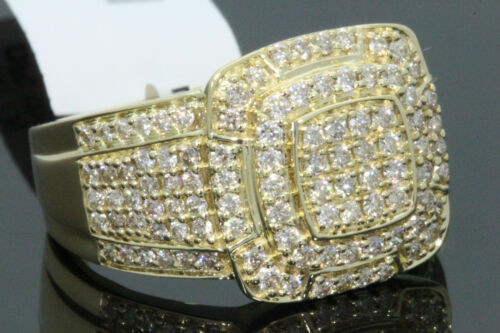 10K SOLID YELLOW GOLD 1.44 CARAT REAL DIAMOND ENGAGEMENT RING WEDDING PINKY BAND