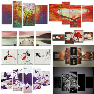 5PCS-Unframed-Abstract-Flower-Art-Oil-Painting-Canvas-Picture-Print-Home