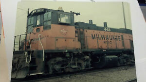 "THE MILWAUKEE ROAD, No. 443, SWITCHER, PICTURE, 8"" x 10"", VERY NICE,"