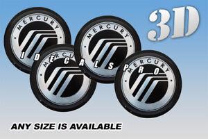 4Pcs 52mm Domed Car Emblem Center Hub Cap Decals Stickers