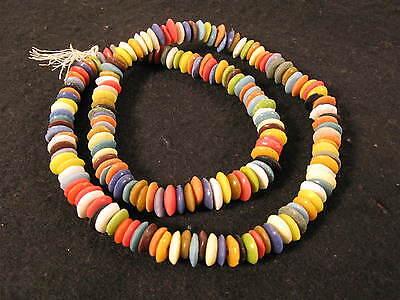 1 Strang Pulverglasperlen Spacer 9mm Mix Ax05 Colours Ghana Powder Glass Beads Gesundheit FöRdern Und Krankheiten Heilen