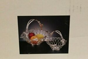 Godinger-Silver-Art-Co-Silver-Plated-Leaf-Design-Set-of-Two-Baskets-Item-19332