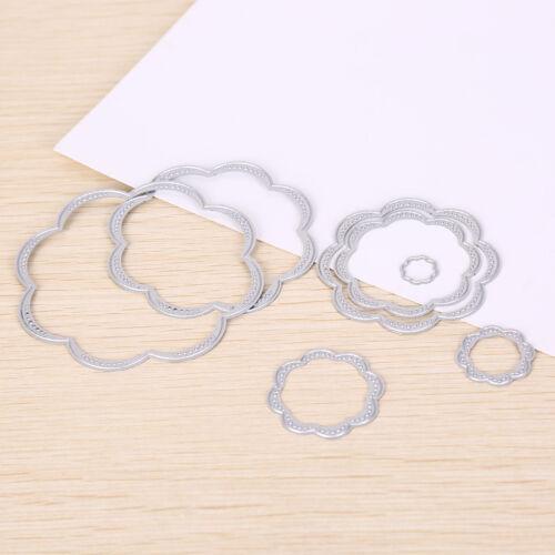7x Blume Metall DIY Stanzform Schablone ScrapbookAlbum Papierkarte Relief —HQ