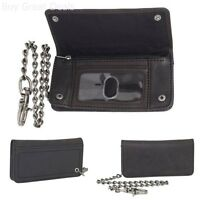 Dickies Mens Trucker Wallet With Chain, Black, One Size