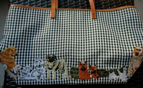 CLEVER CARRIAGE COMPANY ~ NEEDLEPOINT DOG PURSE ~