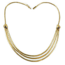 Vintage 18K Gold Wasserfall Collier Gold Kette Retro Halskette 45 cm Necklace