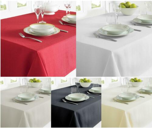 Red Grey White Fabric Table Cloth