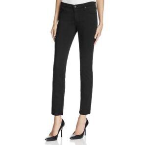 AG Adriano Goldschmied Womens Stilt Cigarette Skinny Jeans Mid Rise Black 27R