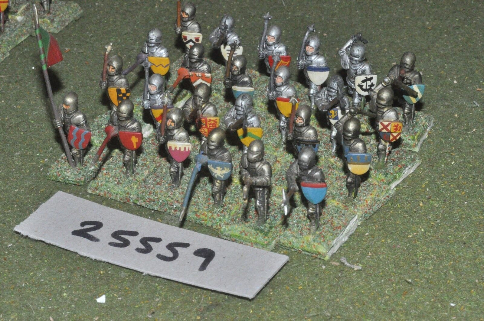 25mm medieval   english - dismounted knights 24 figures - inf (25559)