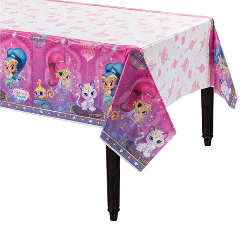 SHIMMER AND SHINE PLASTIC TABLE COVER ~ Birthday Party Supplies Decorations Pink