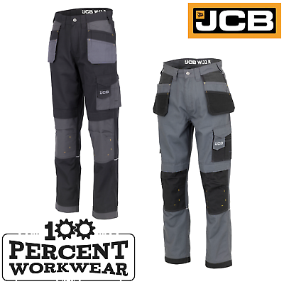 JCB Twin Pack Trade Plus Work Shorts Multiple Pockets Black /& Grey All Sizes