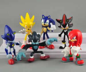 NEW Sonic The Hedgehog 6 Pcs Character Display Action Figures Toy