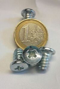 100-x-euroschrauben-6-3-x-11mm-Tornillo-de-Muebles-EURO-tuerca-rosca-gruesa