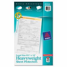 Avery Top Load Polypropylene Sheet Protector Heavy Legal Clear 25pack 73897