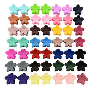 50-PCS-Kids-Baby-Plastic-Girls-Hairpins-Mini-Claw-Hair-Clips-Clamp-Flower-SE