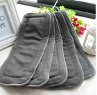 Bamboo Fiber Charcoal Washable Insert Reusable 1Pc 5 Layers Cloth Nappies Diaper