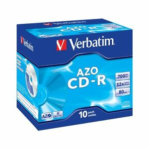 CD-R-52x-700MB-Verbatim-AZO-Crystal-Caja-Jewel-pack-10-uds
