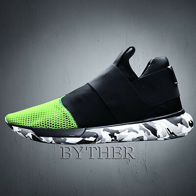 ByTheR Men's Fashion Vivid Color Camo Pattern Comfy Jogger Training Sneakers